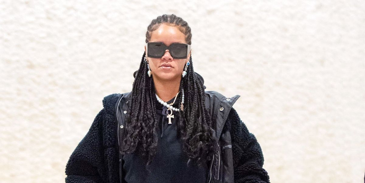 Rihanna Wears Sparkly $1,600 Heels to the Airport Because She's Rihanna