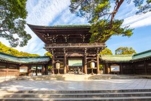 Visit to Meiji Shrine in Tokyo, Japan